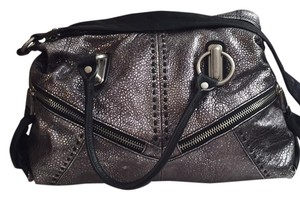 B. Makowsky Satchel in Pewter