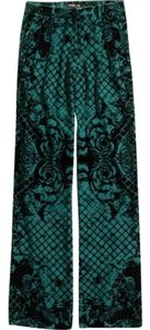 Balmain x H&M Wide Leg Pants Green