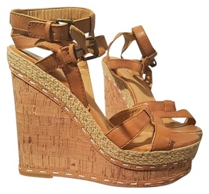 Nine West Natural/Tan Wedges