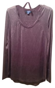 Simply Vera Vera Wang Top Silver Grey