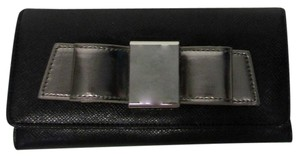 Ivanka Trump Ivanka Trump Blair Bow Black & Silver Wallet Clutch