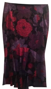 Karen Millen Skirt Black, purple and pink floral