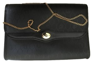 Dior Christian Black with Goldtone hardware Clutch