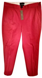 J.Crew Cropped Straight Pants rosebud