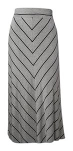 Ava & Viv Maxi Skirt Heather Gray/ Black