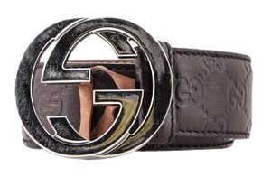 Gucci * Gucci Belt Silver GG Buckle