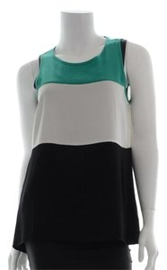 BCBGMAXAZRIA Lucie Color Top Green, white, black