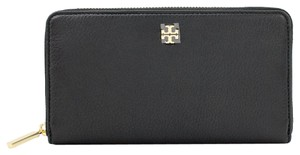 Tory Burch Mercer Leather Zip Continental Wallet Black