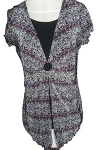 Notations Black Under Layer Large Cap Sleeves Longer Front Colors Top Purple
