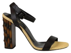 Gucci Leather Sandal Bamboo Sandals
