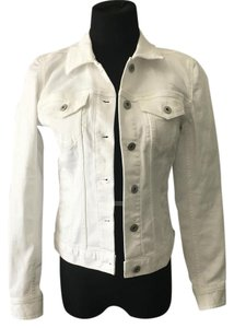 Vince Camuto White Womens Jean Jacket