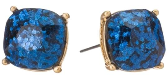 Preload https://img-static.tradesy.com/item/18508108/navy-glitter-gold-tone-blue-square-stud-earrings-0-1-540-540.jpg