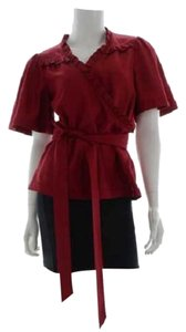 Marc by Marc Jacobs Wrap Top Maroon