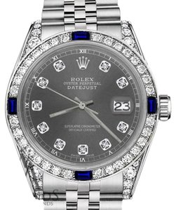 Rolex Women's Rolex 31mm Datejust DarkGrey Dial Sapphire & Diamond Accent