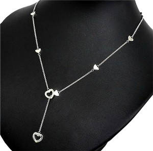 Tiffany & Co. Tiffany & Co Heart Lariat Necklace Sterling Silver 19