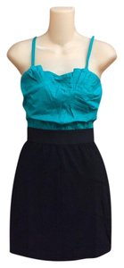 Lulumari short dress Teal & black on Tradesy