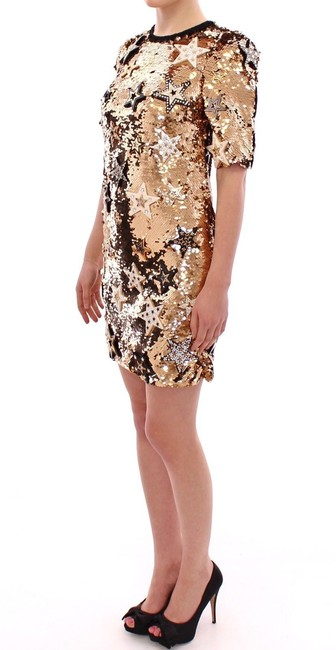 Dolce&Gabbana Runway Sexy Sequined Star Gown Dress Image 2