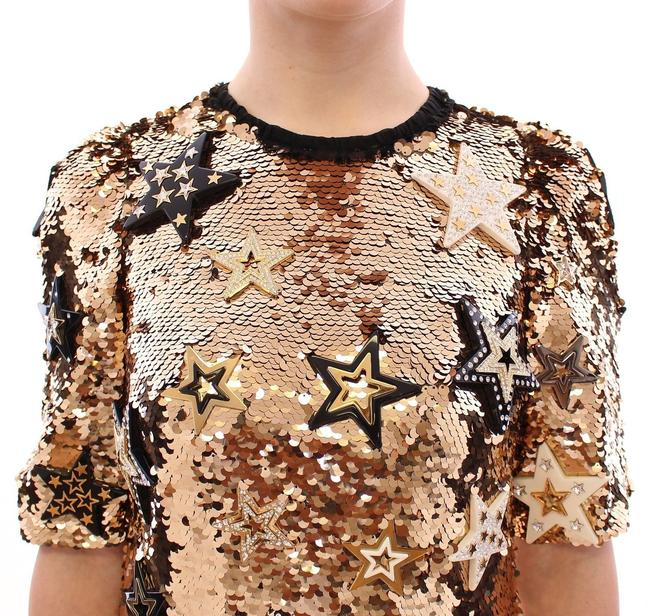 Dolce&Gabbana Runway Sexy Sequined Star Gown Dress Image 4