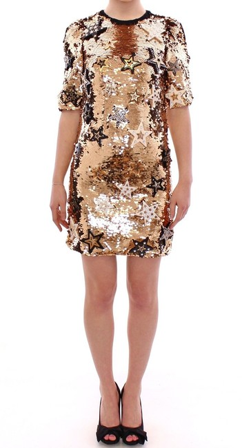 Dolce&Gabbana Runway Sexy Sequined Star Gown Dress Image 5