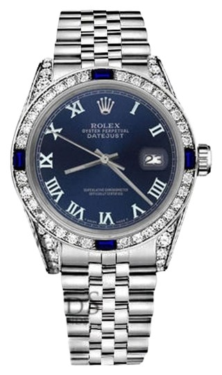 Preload https://img-static.tradesy.com/item/18508663/rolex-women-s-31mmdatejust-navyblueroman-numeraldial-sapphire-diamond-watch-0-2-540-540.jpg