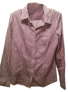 Tommy Hilfiger Button Down Shirt White With Stripes
