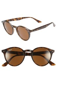 Ray-Ban Ray-Ban Designer Sunglasses Round 49mm Frame