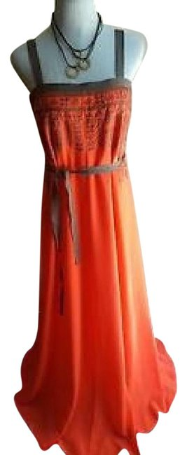 Preload https://img-static.tradesy.com/item/18508795/jessica-simpson-coral-js3a4940-long-night-out-dress-size-12-l-0-3-650-650.jpg