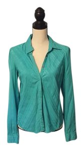 A|X Armani Exchange Striped Top Turquoise