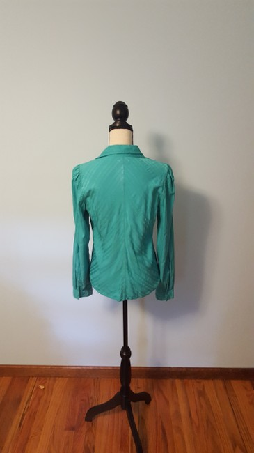 A X Armani Exchange Striped Top Turquoise Image 2
