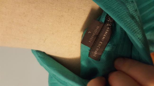 A X Armani Exchange Striped Top Turquoise Image 4