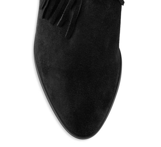 SCHUTZ Leather Fringe Black Boots Image 3