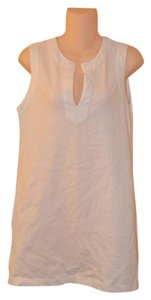 Lands' End Land's End White 100% Cotton Cover-Up Dress-Size XS 2-4