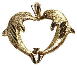 Michael Antonio 14k solid yellow gold Dolphin pendant
