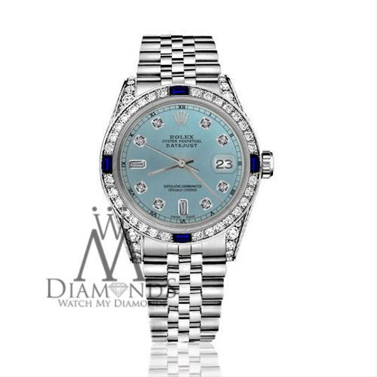 Rolex Women's Rolex 31mmDatejust IceBlue Dial Sapphire & Diamond Accent RT Image 1