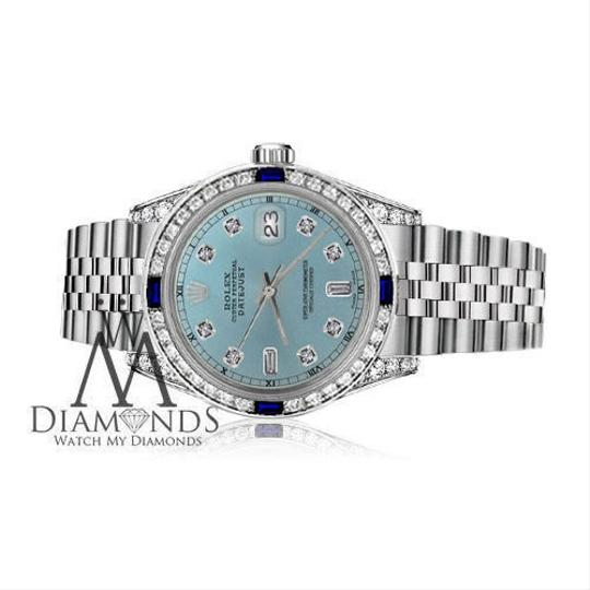 Rolex Women's Rolex 31mmDatejust IceBlue Dial Sapphire & Diamond Accent RT Image 2