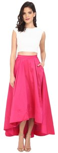 Aidan Mattox Hi Lo Two Piece Pink Gown Dress