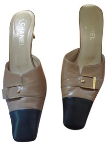 Chanel Brown and black Mules