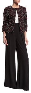 Lafayette 148 New York Night Out Formal Wedding Designer Diva Wide Leg Pants Black