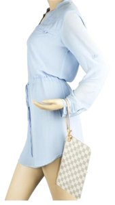 Louis Vuitton Wristlet in White And Blue
