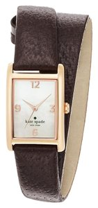 Kate Spade double wrap gold and brown