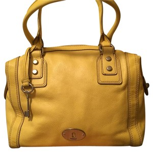 Fossil Satchel in Yellow