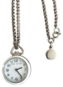 Marc by Marc Jacobs Marc by Marc Jacobs silver and white clock necklace
