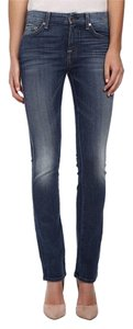 7 For All Mankind Kimmie Straight Skinny Jeans-Medium Wash