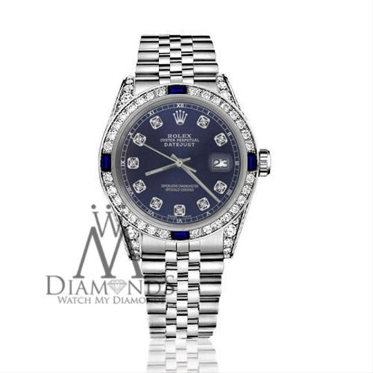 Rolex Rolex 36mm Datejust Navy Blue Dial Sapphire & Diamond Bezel Accent Image 2