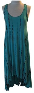 Blue Maxi Dress by Veronica M M Tie Dye Nwot High / Low