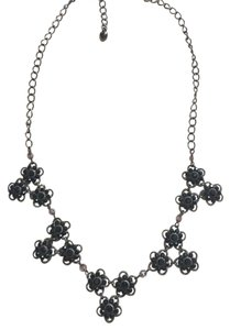 Black Medium Length Necklace