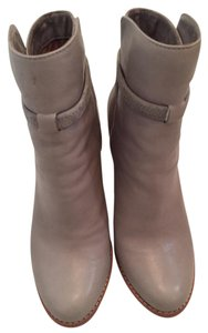 Joie Round Toe Taupe Leather Fog Boots