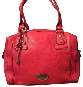 Fossil Satchel in Red