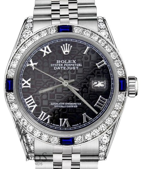 Preload https://img-static.tradesy.com/item/18512122/rolex-women-s-31mm-blackjubilee-romannumeral-dial-sapphire-and-diamond-watch-0-1-540-540.jpg