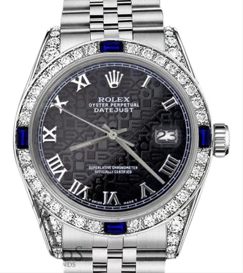 Preload https://img-static.tradesy.com/item/18512128/rolex-ladies-26mm-black-jubilee-romannumeral-dial-sapphire-diamonds-watch-0-5-540-540.jpg